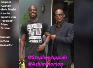 Stephen Appiah and Mr. Ashim Morton