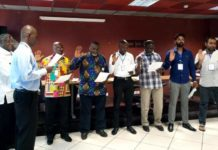 Newly elected executives of the Ghana Cricket Association being sworn in