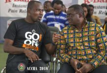 Charles Osei Asibey having a chat with Ben Nunoo Mensah