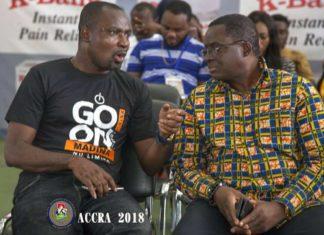Charles Osei Asibey having a chat with Ben Nunoo Mensah