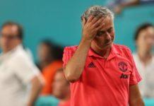Jose Mourinho scratching off his head