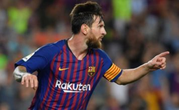 Lionel Messi scored twice as Barca beat Alaves