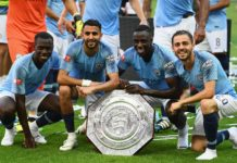 Mahrez wins first trophy at City