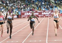 Shaunae Miller-Uibo leading the chase