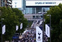 Tottenham fans at Wembley