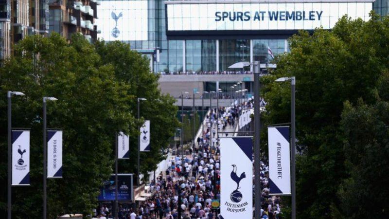 Tottenham fans at Wembley