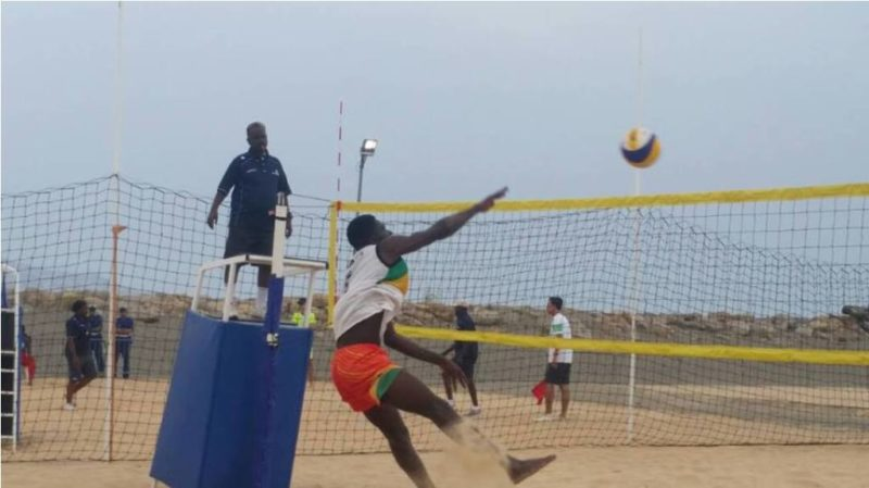 Ghana Beach Volleyball team in action