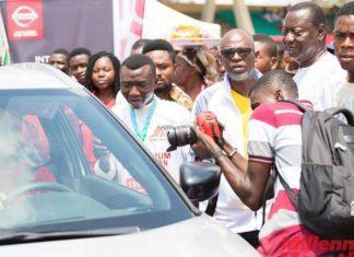 Amdiatu Seidu drives home Nissan SUV car