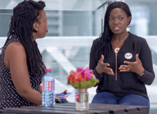 Lucy Quist [right], member of the Normalization Committee