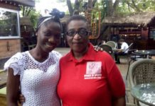 Yaa Yaa [left] with Madam Gloria Commodore - WISA