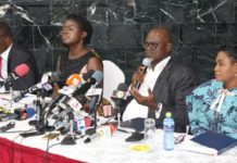 Dr. Kofi Amoah addressing the press