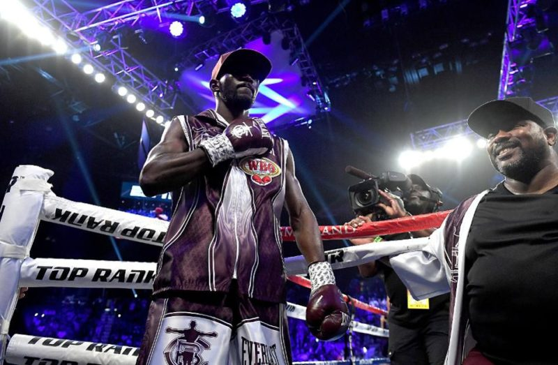Terence Crawford before entering the ring
