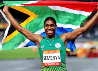 Caster Semenya at the 2018 Commonwealth Game in Gold Coast, Australia