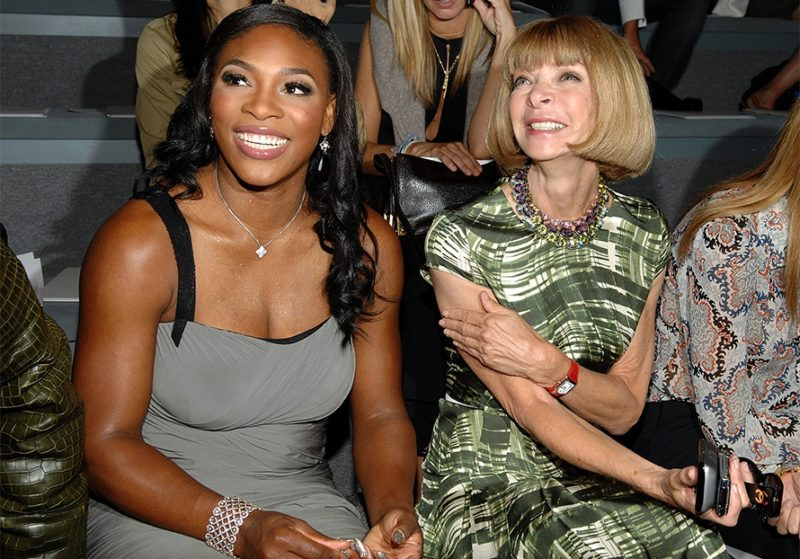 Serena Williams with Vogue editor in chief and Condé Nast artistic director Anna Wintour