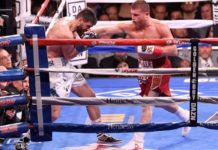 Canelo Alvarez dominating Rocky Fielding