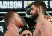 Canelo Alvarez faces off with Rocky Fielding