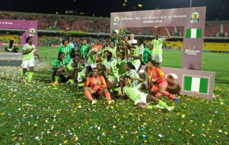 Super Falcons, champions of 2018 AWCON