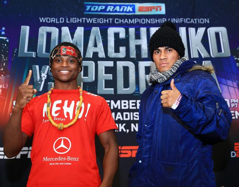 Isaac Dogboe faces off with Emanuel Navarrete