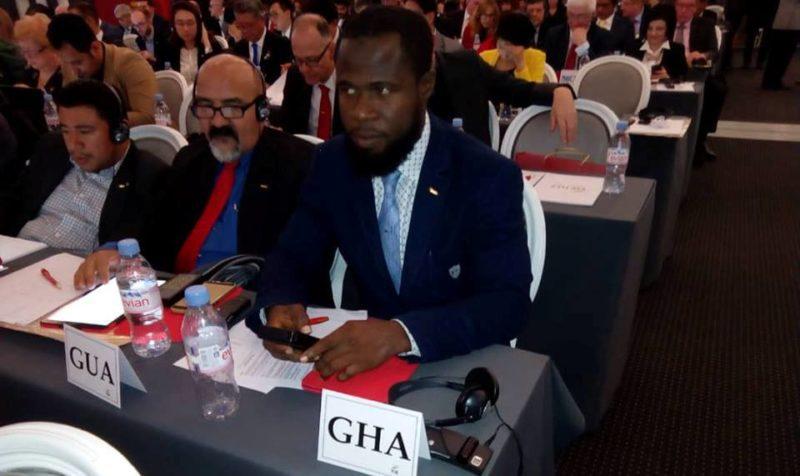 Mohammed Mahadi representing at the 2018 FIE congress