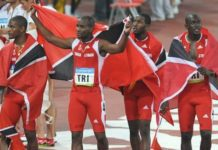 Trinidad and Tobago's 2008 men's 4x100m relay