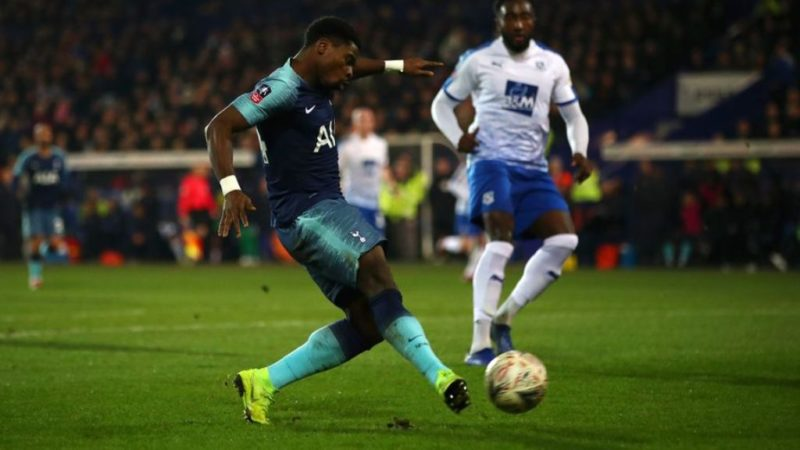 Serge Aurier scores his second of the night